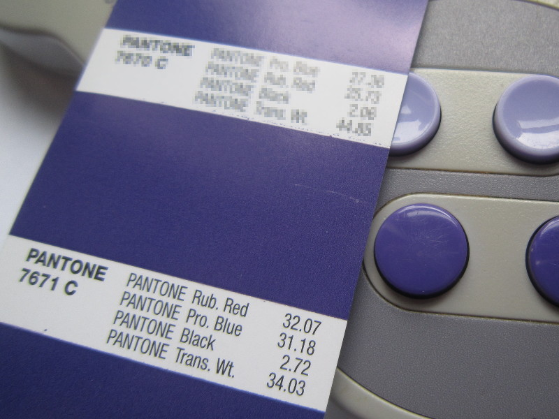 Pantone In Ral videogame console colors