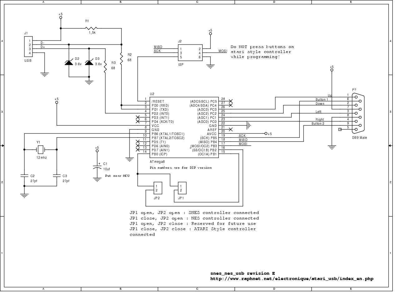 Atari/SMS/Genesis joystick/controller/multi-tap to USB adapter