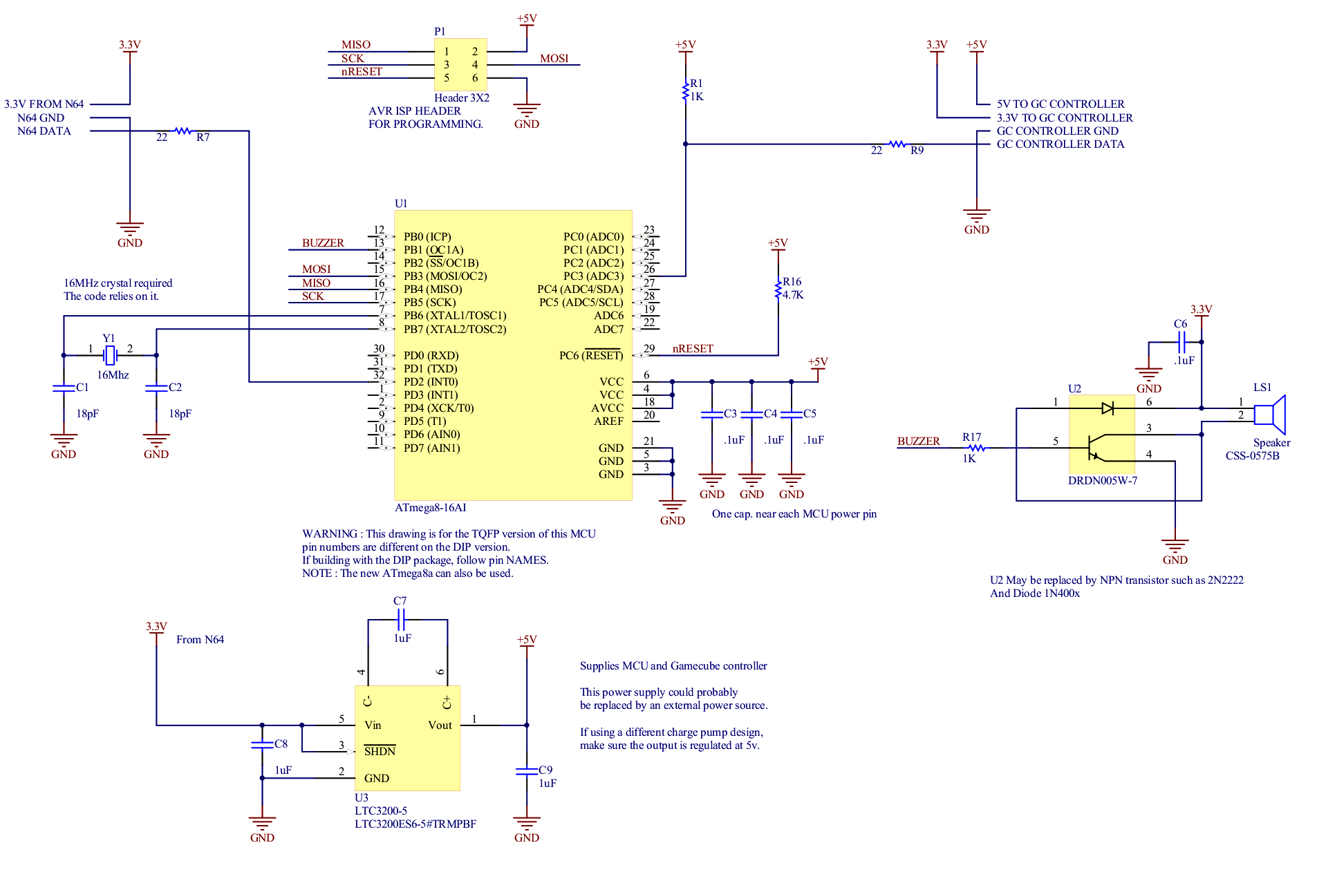 schematic_v1 gamecube controller to n64 adapter n64 controller wiring diagram at soozxer.org