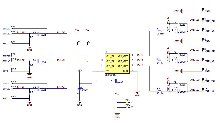 3 channel video buffer rh raphnet net Schematic Diagram Basic Electrical Schematic Diagrams