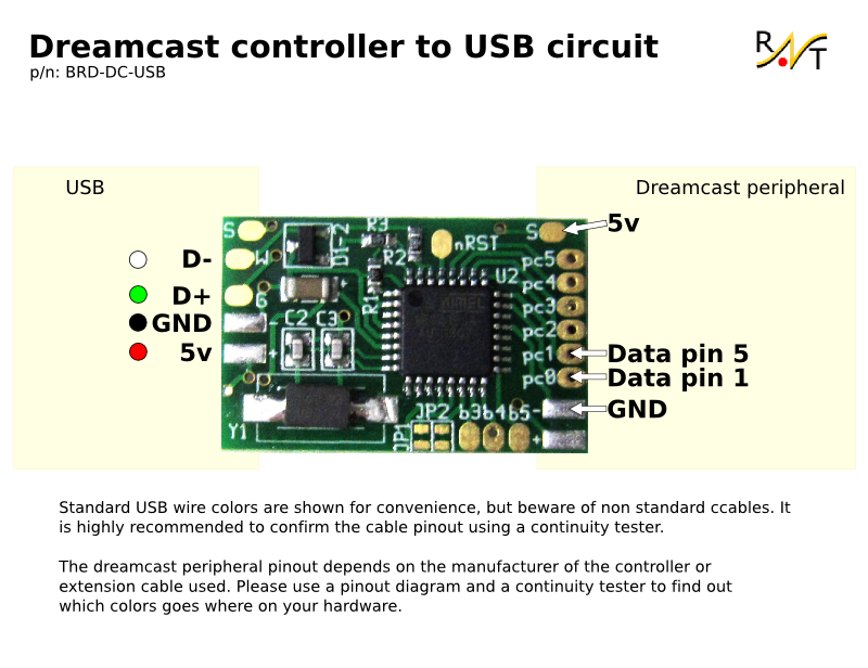 dc_board_wiring dreamcast controller to usb adapter