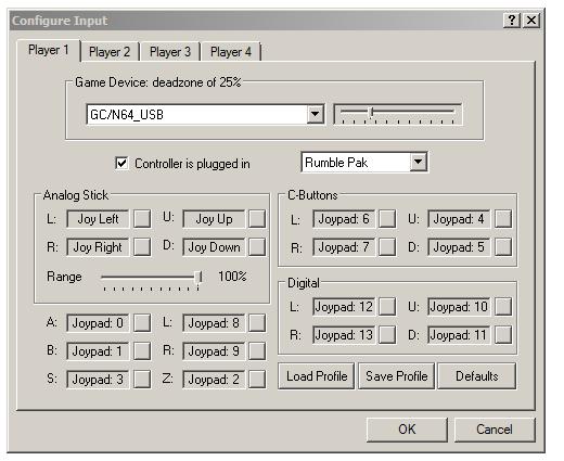 project 64 2.2 configurar joystick