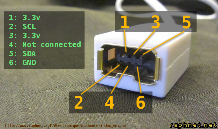 wusbmote: Wiimote accessory to USB adapter | Wii Nunchuk Wire Diagram |  | raphnet.net