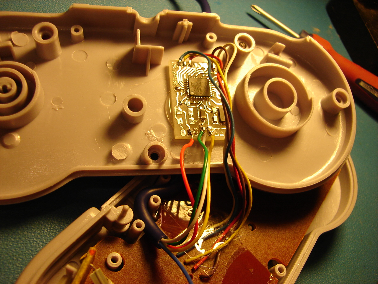 N64 Snes Nes Controller To Gamecube Wii Conversion Project Nintendo Wiring Diagram Inside An Clone