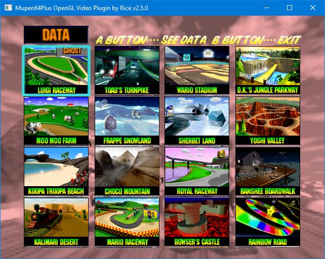 Mario Kart 64 Save File